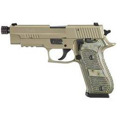 "SIG Sauer P220 Scorpion Semi Auto Handgun .45 ACP 4.9"" Threaded Barrel 8 Rounds Beavertail SRT Trigger Flat Dark Earth Finish G10 Parana Grips Night Sights 220R-45-SCPN-TB"