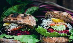 Απίθανο burger με μπιφτέκι λαχανικών