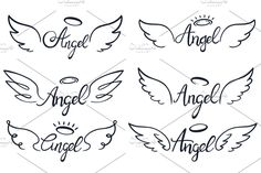 Heaven wing, heavenly winged angels and holy wings sketch. Saint halo ans angels wings tattoo sketches or ink insignia. Tattoo Oma, Alas Tattoo, Mini Tattoos, Cute Tattoos, Body Art Tattoos, Foot Tattoos, Wing Tattoo Designs, Angel Tattoo Designs, Desenho Kids