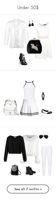"""""""Under 50$"""" by i-lilu ❤ liked on Polyvore featuring Miss Selfridge, Pilot, French Connection, Zhenzi, WithChic, Nine West, ZeroUV, Hilts Willard, Marc by Marc Jacobs and New Look"""