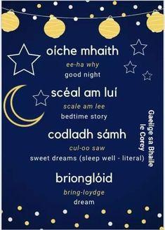 Irish Gaelic Language, Gaelic Words, Scottish Words, Scottish Gaelic, Outlander, Learning Languages Tips, Date Night Gifts, Irish Landscape, Irish Quotes