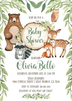 Forest Baby Shower Invitation - Site Today- Waldbaby-Duschen-Einladung – Site Today Forest Baby Shower Invitation – a shower - Otoño Baby Shower, Shower Bebe, Boy Baby Shower Themes, Baby Shower Invitations For Boys, Baby Shower Printables, Boy Babyshower Invitations, Baby Themes For Boys, Woodlands Baby Shower Theme, 2 Baby