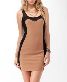 Colorblocked Ottoman Dress (Camel/Black). Forever 21. $19.80