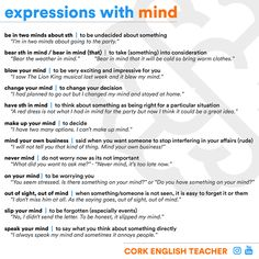 Expressions with MIND #learnenglish https://plus.google.com/+AntriPartominjkosa/posts/8EHvuMVQUCo