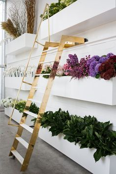 24 new ideas flowers shop interior floral wall Design Shop, Flower Shop Design, Shop Interior Design, Retail Design, Store Design, Floral Design, Design Design, Design Interiors, Florist Shop Interior