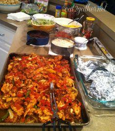 Chicken Fajitas (for a crowd)