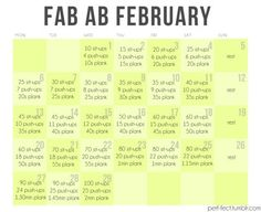 February is tomorrow!! See how far you can get in this work out. :) DO IT! DO IT! DO IT!