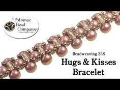 ▶ How to Make a Hugs & Kisses Bracelet or Necklace (Beadweaving 258) - YouTube tutorial from The Potomac Bead Company http://www.potomacbeads.com - Buy jewelry-making supplies online: http://www.thebeadco.com