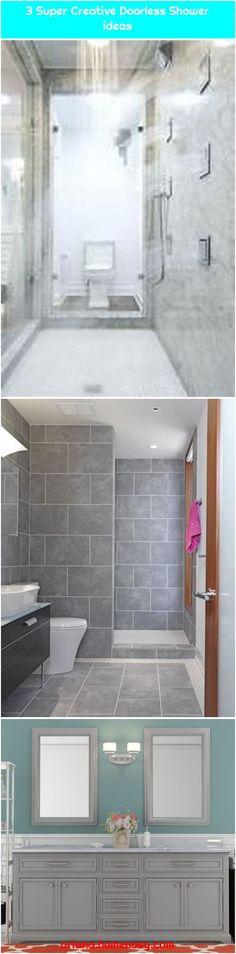 #Bath #Bathroom #bathtubs #Bergin #Doorless #double #floors1. Bath room remodel shower doorless floors 53+ New IdeasBath room remodel shower doorless floors 53+ New Ideas Bath room remodel shower doorless floo... Shower Remodel, Gin, Bathtub, Flooring, Bathroom, Creative, Standing Bath, Washroom, Bathtubs