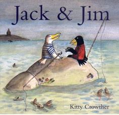 """Jack and Jim: Picture Book: Kitty Crowther: """"Two very different birds with a message of friendship and acceptance. Equality And Diversity, Cultural Diversity, Kitty Crowther, Out Of The Woods, Summer Reading Lists, 12th Book, Happy Reading, Watercolor Artwork, Sea Birds"""