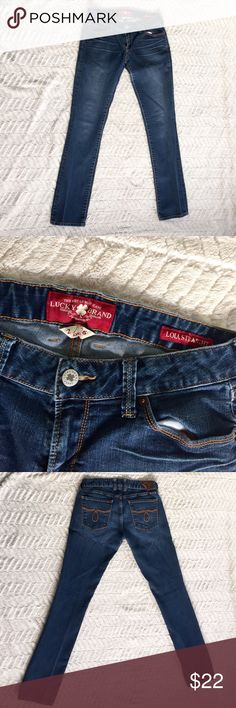 Lucky Brand Lola Straight Leg Ankle Denim Jeans Ankle cut • Size 2/26 • In great condition—the only damage is that the leather tag on the waistband on the back is peeling off at one corner (shown in photos) • Brown stitching on pocket & zipper detailing • Lola straight leg style Lucky Brand Jeans Straight Leg