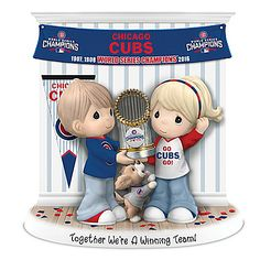 Together We're A Winning Team Chicago Cubs Precious Moments Figurine