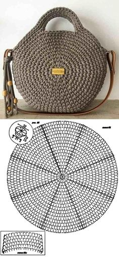 Make and profit: 26 models of crochet bag with graphic - 26 Beautiful Crochet B. - Make and profit: 26 models of crochet bag with graphic – 26 Beautiful Crochet B… Make and profit: 26 models of crochet bag with graphic – 26 Beautiful Crochet B…, Crochet Round, Crochet Motif, Crochet Baby, Knit Crochet, Crochet Patterns, Beau Crochet, Crochet Designs, Crochet Basket Pattern, Afghan Patterns