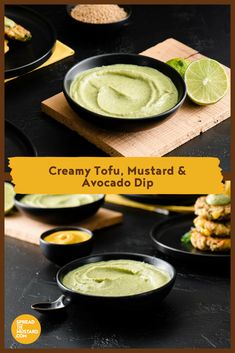 Soft tofu and avocado create a deliciously creamy texture in this light flavourful dip. Potluck Recipes, Easter Recipes, Dip Recipes, Appetizer Recipes, Great Recipes, Snack Recipes, Snacks, Salad Recipes, Burger Recipes