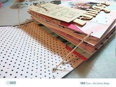 Tutorial para hacer un mini álbum con tapas duras con la colección Hello Love de Crate Paper.