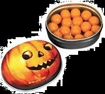 Halloween Candy Gifts, Pumpkin Spice Gumballs!  If Halloween is one of your favorite times of year, then you'll appreciate candy gum and of course pumpkin anything!  Take your love of October with you in this cool Jack O' Lantern tin full of an adult-esque Halloween Treat!