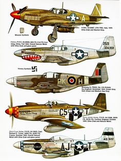 """passion-aviation: """" P-51 Mustang in action - Squadron signal """""""