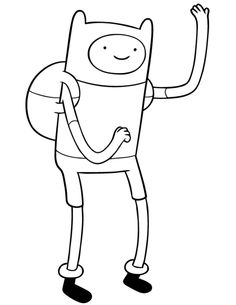 adventure time finn coloring page - Adventure Time Coloring Pages Free 2