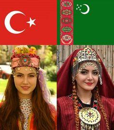 """118 Beğenme, 0 Yorum - Instagram'da ϜϓſϞ 🧿 🐺 🦅 (@turkicturk): """"🇹🇷❤️🇹🇲 #türkiye #turkey #türk #turkmen #turkishgirl #turkmengirl #turkmengyzy #türkkızı…"""" Turkic Languages, Golden Horde, Turkish People, Blue Green Eyes, Indian Language, Islamic Images, Muslim Fashion, Traditional Dresses, Red Hair"""