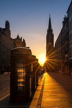 Sunrise over the Royal Mile, Edinburgh by KarenMcDonald