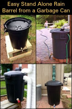 Need water for your garden but have no gutters? No problem! Make this easy DIY rain barrel as a standalone rainwater collector for easy garden watering. Save time and money with this simple DIY. Rain Catcher, Rain Barrel System, Water Collection System, Water From Air, Barrel Projects, Rainwater Harvesting, Easy Garden, Garden Planning, Backyard Landscaping