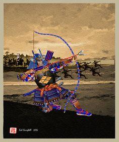 Samurai elettrico teletrasportato da un universo parallelo o perpendicolare.
