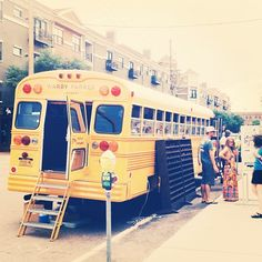The Warby Parker school bus. What a brilliant pop up shop idea.