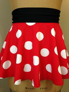 PERFECTLY MINNIE! Super Cool Costume Running Skirt!  Perfect for your next race and upcoming Disney race or FUN themed race!