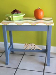 Love this bench!!!  ReInvigorated Painted Wood Piano Bench by AardvarkFurniture, $39.50