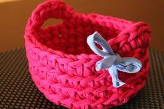 Probando con el trapillo: Patrón cesta ~ Susigurumi