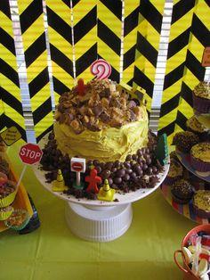 Fun Construction Party Cake #construction #cake
