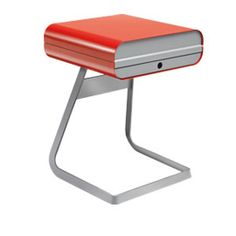 What a cute desk for your garden room! Pod Notebook Desk Flame Red And Grey #Heals
