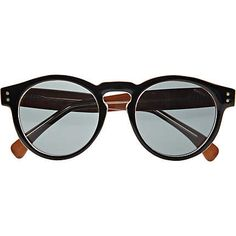 Black Komono round sunglasses - branded sunglasses - sunglasses - men