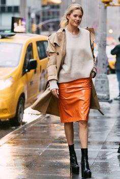 Doutzen Kroes - Street-Style New-York-fashion-week-autome-hiver-2017-2018 - Photo par Sandra Semburg