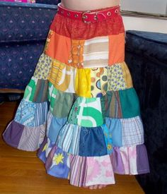 The rainbow is awesome but I'd really have to talk myself into a patchwork twirl skirt--so much sewing and gathering!