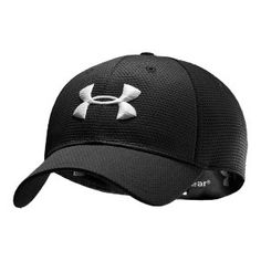 Under Armour Men's UA Blitzing Stretch Fit Baseball Cap Hat (Medium/Large, Midnight Navy/White). All-over performance mesh accelerates dry time. Upf Built-in sweatband keeps you dry. Reflects heat and IR rays to keep you cooler than ever. Fitted Baseball Caps, Fitted Caps, Baseball Hats, Under Armour Herren, Under Armour Men, Men's Accessories, Herren Style, Estilo Fashion, Mens Caps