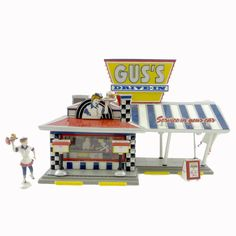 Dept 56 Buildings GUS'S DRIVE-IN 55067 Christmas Snow Village New