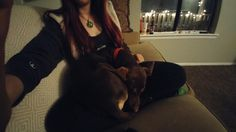 Nothing feels quite as good as a sleeping puppy curled up in your lap http://ift.tt/2lMSvAo