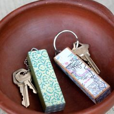 Keychains - MAKE PILLOWS FROM SMALL-PRINT FABRIC