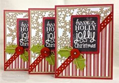 Holly Jolly Card Set by Shannon White #Cardmaking, #Christmas, #CuttingPlates
