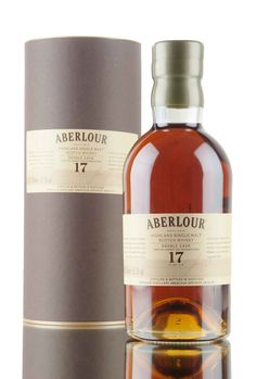 A 17 year old Aberlour matured in two types of casks, first fill sherry and bourbon - bottled at 55.3%.