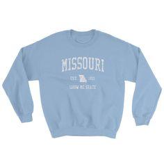 Vintage Missouri MO Adult Sweatshirt (Unisex) ffe6e3ae2