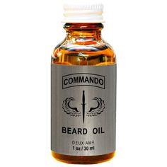 Commando beard oil. A blend of premium oils with no added fragrance. You have your favorite cologne or don't want to wear any fragrance then choose Commando Beard Oil.