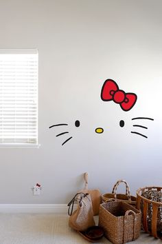 ❤  Everyone loves the friendly face of Hello Kitty. With this kit, you'll get the elements of Hello Kitty face deconstructed so you can have fun with it however you like. You'll be getting three sizes that you can fit in different places around your house – even your electric outlet can be a Hello Kitty! $55  ❤