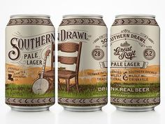 Great Raft Brewing Southern Drawl Cans | love the way this is shot so that a continuous image is made
