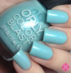 Icesolated Orly Color Blast bail polish in Frozen Elsa colors