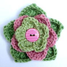 Pretty crochet flower.