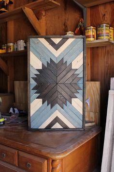 Modern Wood ArtWood Wall ArtGeometric Wood ArtReclaimed