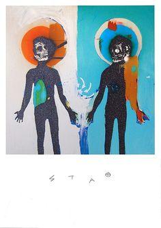 Splitting The Atom (Black Glitter) by Robert Del Naja