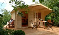 """If you have enough space in your backyard and want pay more for """"PLAYHOUSE"""" . of course in your backyard, this Allwood Kit Cabin will be The Best choice for you. Tiny House Kits, Buy A Tiny House, Best Tiny House, Prefab Tiny House Kit, Prefab Cabins, Tiny Cabins, Prefab Homes, Log Cabins, Kit Homes"""